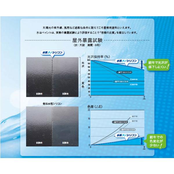 【塗料・塗装品】水性ナノシリコン 水系ナノシリコン樹脂塗料 15kg 標準色