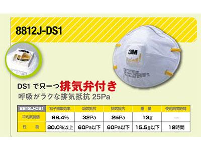 【機械・その他】3M 防じんマスク 8812J−DS1 小箱/10枚入