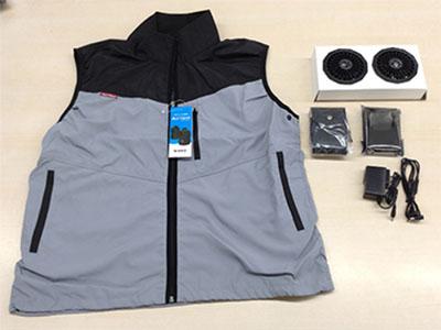 【熱中症対策】空調服 エアーベスト AirVest AD-1000ASX ベスト・ファン・バッテリーセット グレー×ブラック Mサイズ