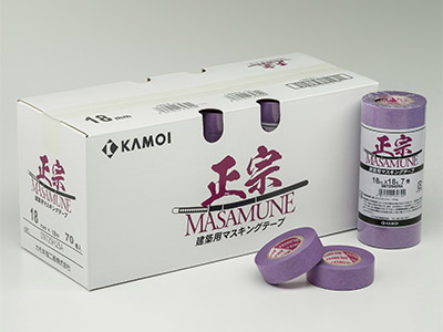 【養生品】建築養生用マスキングテープ 正宗(ケース)  幅12mm×長さ18m 10パック 100巻