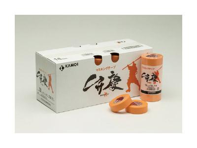 【養生品】マスキングテープ 弁慶(建築塗装用) 幅15mm×長さ18m 8パック 80巻(ケース)