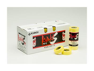 【養生品】マスキングテープ カブキS(建築塗装用) 幅50mm×長さ18m 2パック 20巻(ケース)